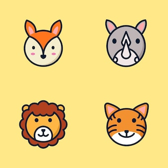 Ensemble d'illustrations animales