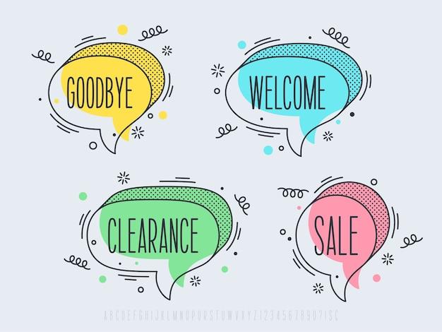 Ensemble d'illustrations de bulle de dialogue