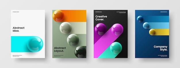 Ensemble d'illustrations créatives de brochures d'orbes réalistes