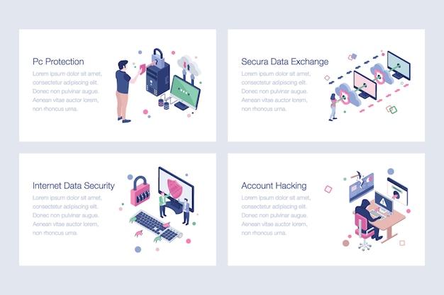 Ensemble d'illustrations de cybersécurité