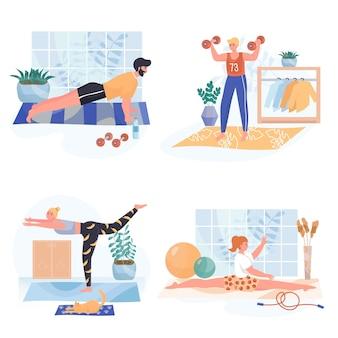 Ensemble d'illustrations design plat marketing par e-mail