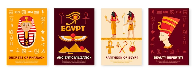 Ensemble d'illustrations égyptiennes