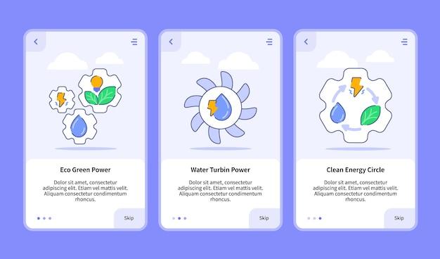 Ensemble d'illustrations d'énergie renouvelable pour application mobile