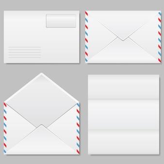Ensemble d'illustrations d'enveloppes