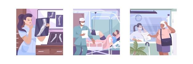 Ensemble d'illustrations de fracture