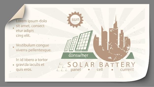 Ensemble d'illustrations infographiques des sources d'énergie renouvelables de la terre, de l'eau et du vent.