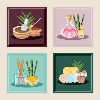 Ensemble d'illustrations de spa