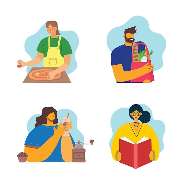 Ensemble d'illustrations de style plat de diverses personnes