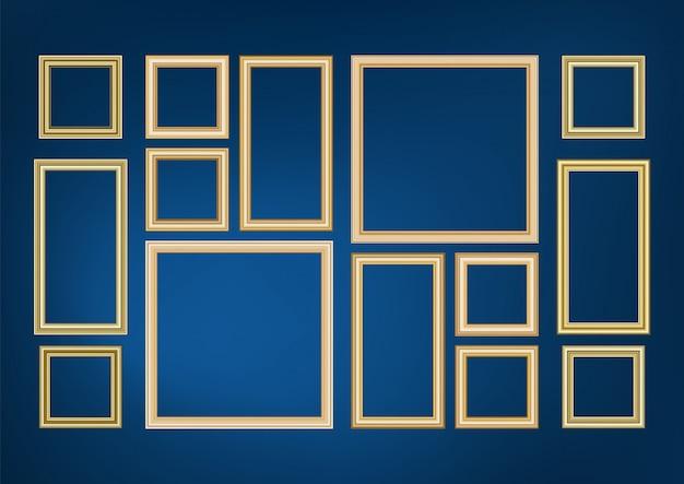 Ensemble d'image de cadre décoratif