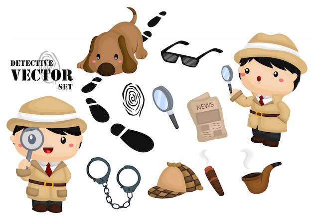 Ensemble d'images de détective