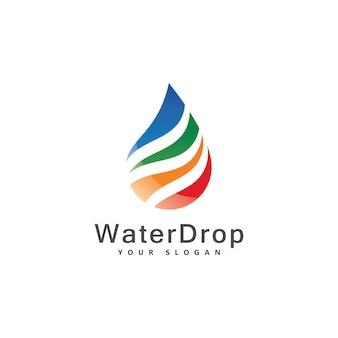 Ensemble d'images de logo de goutte d'eau