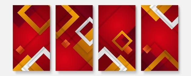 Ensemble d'images vectorielles d'arrière-plans créatifs abstraits dans un style branché minimal avec espace de copie pour le texte - modèles de conception pour les histoires de médias sociaux