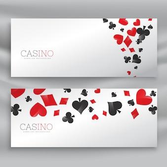 Ensemble impressionnant de bannières de casino