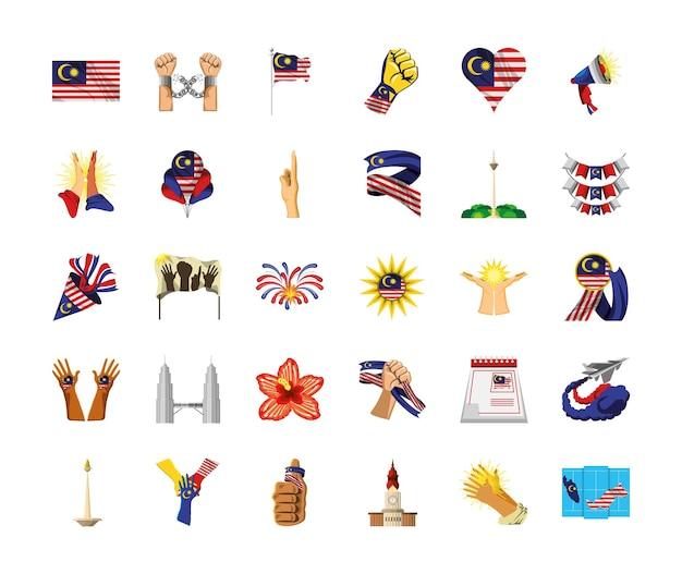 Ensemble de l'indépendance de la malaisie