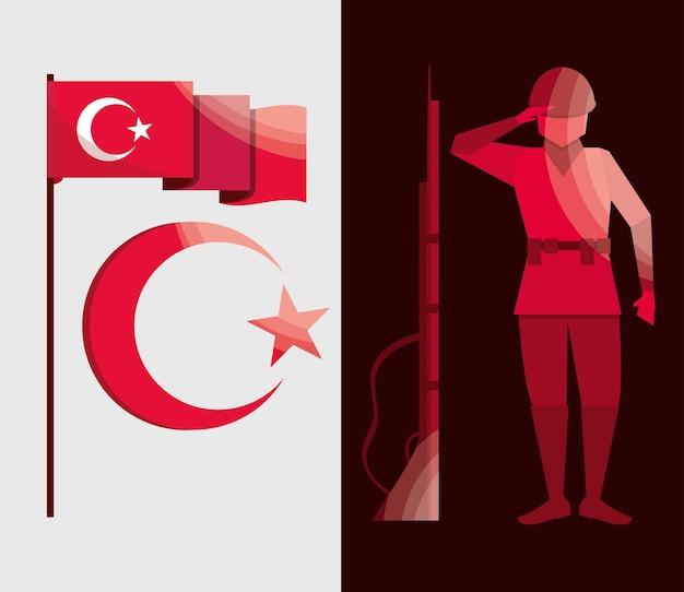 Ensemble de l'indépendance de la turquie