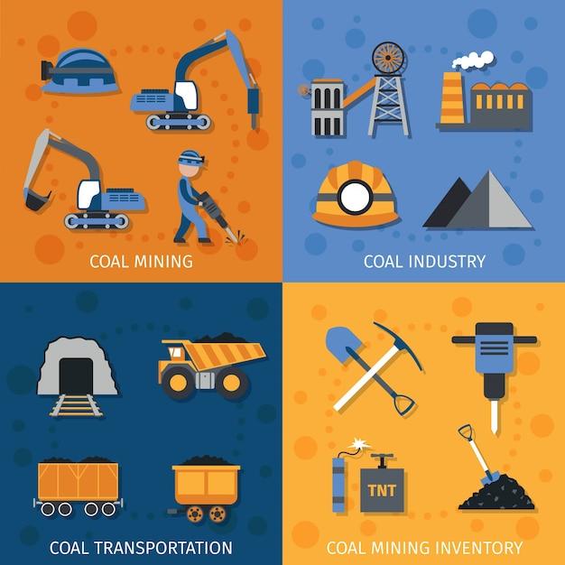 Ensemble de l'industrie du charbon