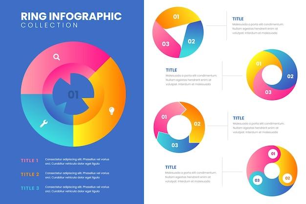 Ensemble d'infographie en anneau