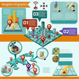 Ensemble d'infographie de navigation