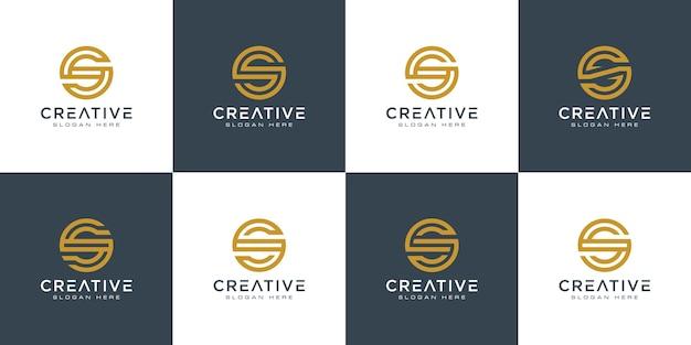 Ensemble d'initiales lettre s création de logo abstrait