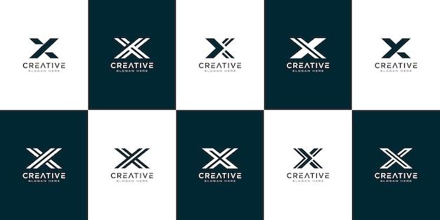Ensemble d'initiales lettre x création de logo abstrait