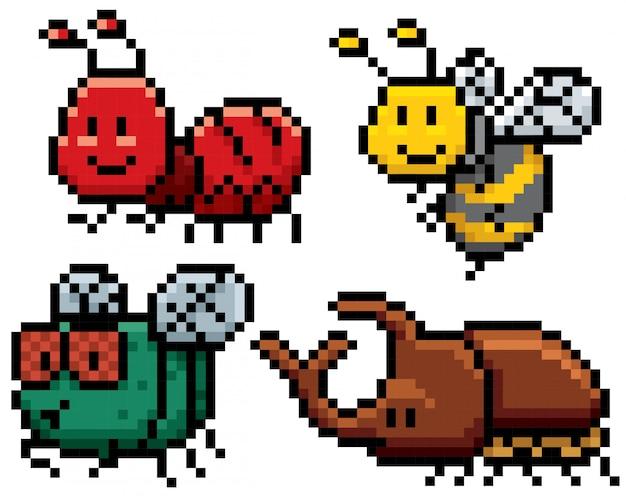 Ensemble d'insectes de dessin animé