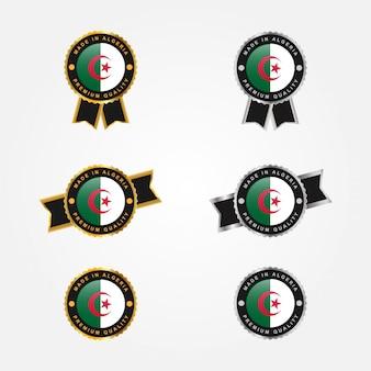 Ensemble insigne emblème made in algeria