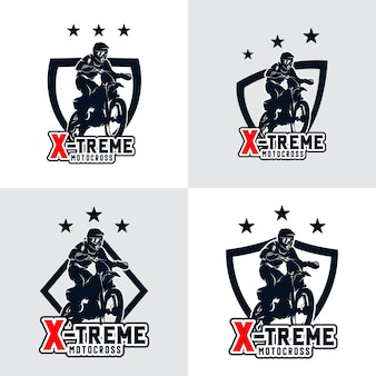 Ensemble d'insigne de logo de motocross freestyle
