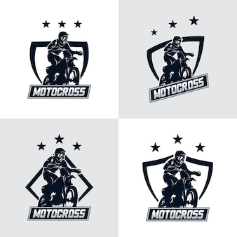 Ensemble d'insigne de logo de motocross freestyle