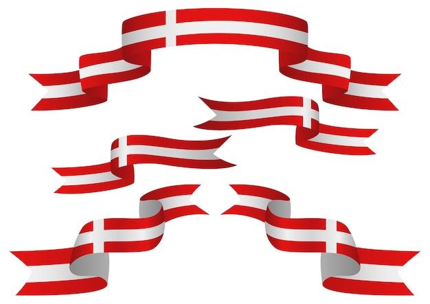 Ensemble d'insignes autriche en forme différente de rubans