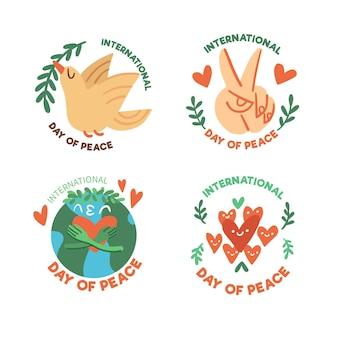 Ensemble d'insignes du jour de la paix