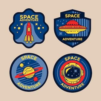 Ensemble d'insignes de patch de mission spatiale et emblèmes de logo