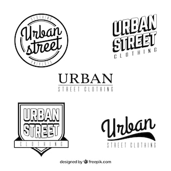 Ensemble d'insignes rétro urbains