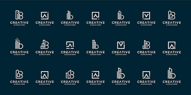 Ensemble d'inspiration de conception de logo lettre az