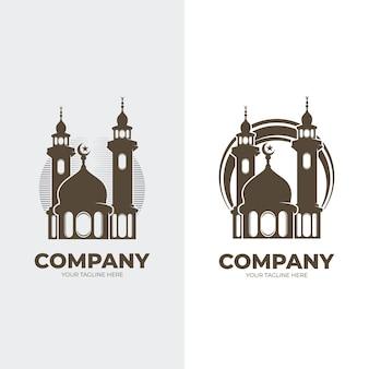 Ensemble d'inspiration de conception de logo de mosquée