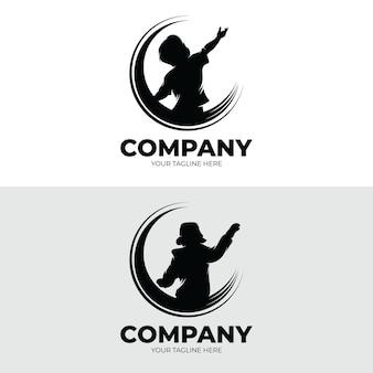 Ensemble d'inspiration de conception de logo de rêves d'enfants