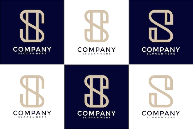 Ensemble d'inspiration créative de conception de logo de lettre s de monogramme