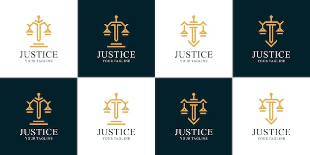 Ensemble d'inspiration de logo avocat