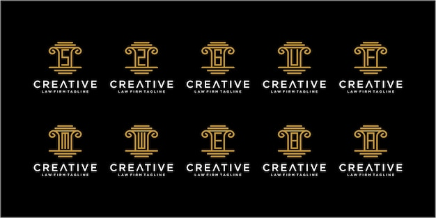 Ensemble d'inspirations impressionnantes de conception de logo de cabinet d'avocats