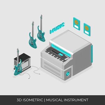 Ensemble d'instruments de musique 3d