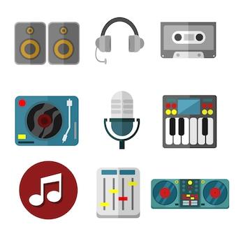 Ensemble d'instruments de musique instrument vector illustration graphic