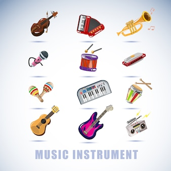 Ensemble d'instruments.