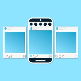 Ensemble d'interface de carrousel instagram