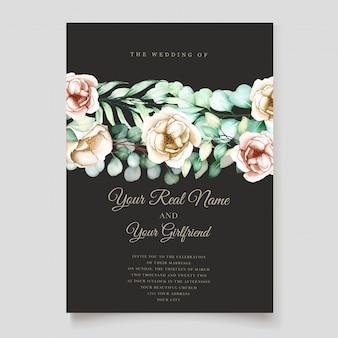 Ensemble d'invitation de mariage eucalyptus
