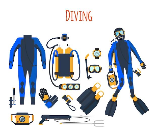 Ensemble isolé d'équipement de plongée