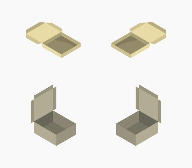 Ensemble isométrique de boîte de beignet