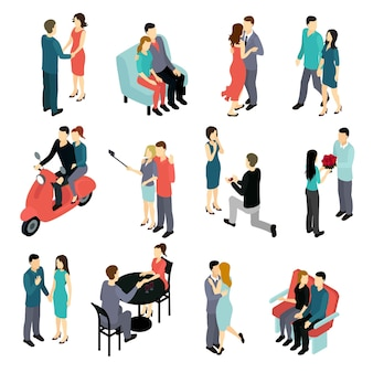 Ensemble isométrique de couples amoureux