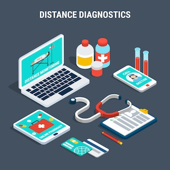 Ensemble isométrique de diagnostic médical