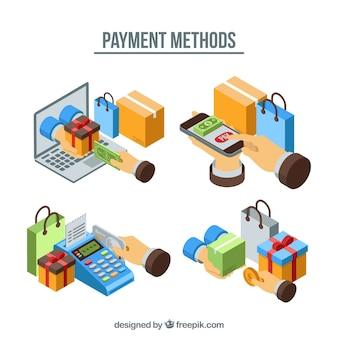 Ensemble isométrique de méthodes de paiement