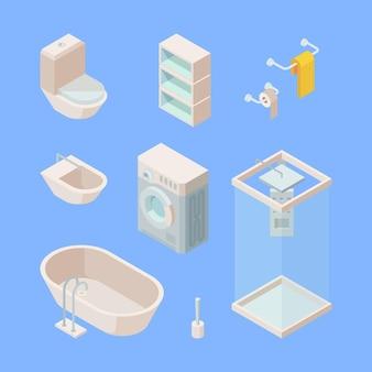 Ensemble isométrique de salle de bain