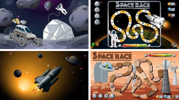 Ensemble de jeux de l'espace